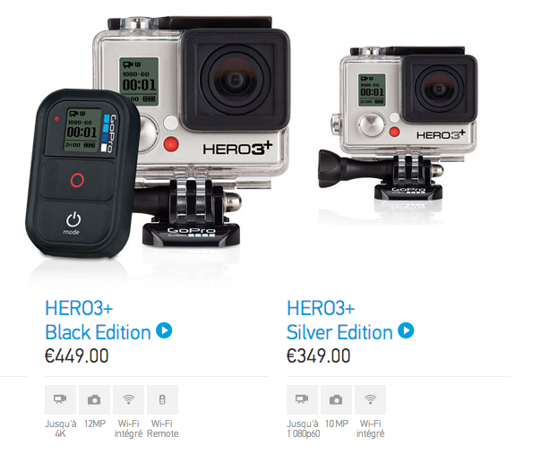 GoPro HERO 3+ Black Edition Silver Edition